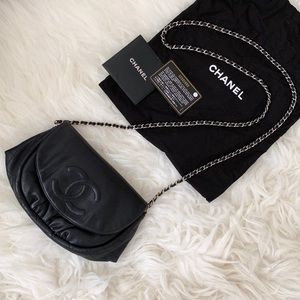 🖤 CHANEL Half Moon Wallet on Chain Crossbody